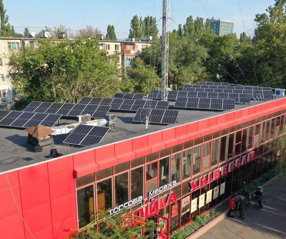 Сетевая станция 20 кВт на крыше дома