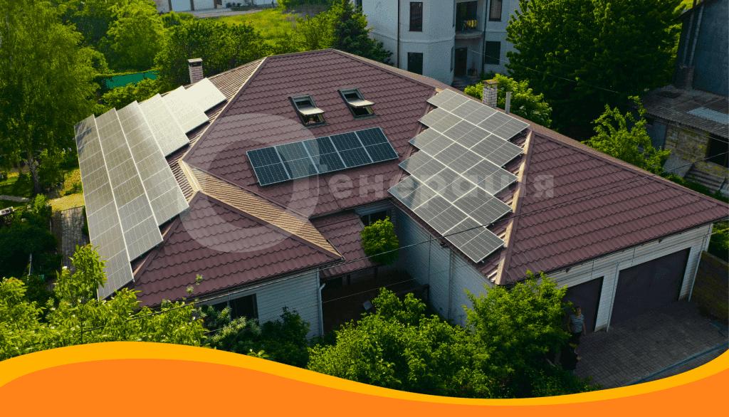 Мережева сонячна станція для дому під зелений тариф, 13 кВт, Одеса