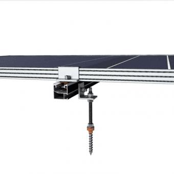 Купити Комплект кріплення системи Kripter UNIVERSAL для дахів з існуючим кутом нахилу для металочерепиці, шифера, профнастила в магазині Генерація за 34 $